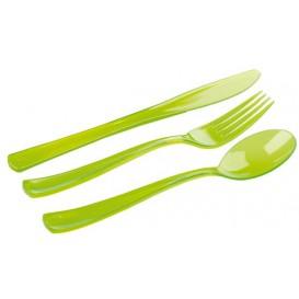 Conjunto Talheres Garfo, Faca Colher Verde (20 Conjuntos)