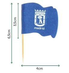 "Pick Bandeira ""Madri"" 65mm (144 Uds)"
