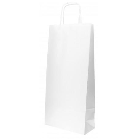 Saco Papel Branco porta Garrafas 18+8x39cm (300 Uds)