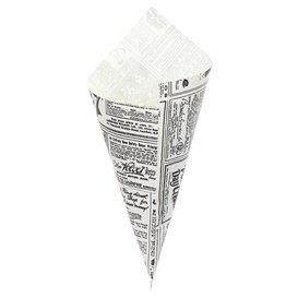 Cone de Papel Antigordura 240mm 100g  (2.000 Uds)