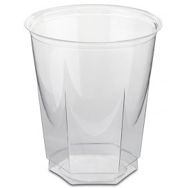Copo Plastico Hexagonal PS Cristal 250ml (50 Uds)