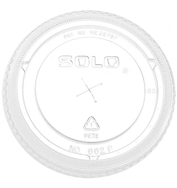 Tampa Plana com Cruz PET Cristal Ø9,2cm (100 Uds)