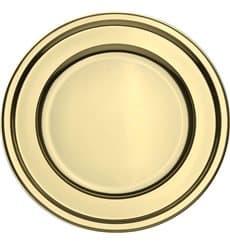 BaixoPrato Plastico Luxo Redondo Ouro 30 cm (50 Uds)