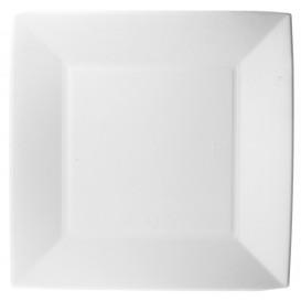 Prato Quadrado Cana-de-açúcar Branco Nice 23x23cm (50 Uds)