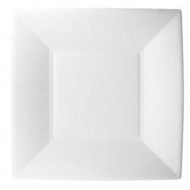 Prato Quadrado Cana-de-açúcar Branco Nice 18x18cm (50 Uds)