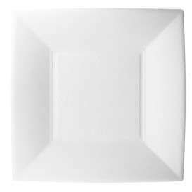 Prato Quadrado Cana-de-açúcar Branco Nice 18x18cm (500 Uds)