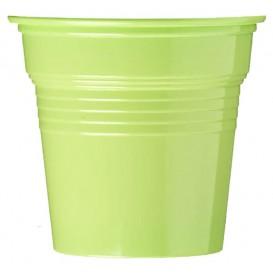 Copo de Plastico PS Verde Limão 80 ml Ø5,7cm (50 Uds)