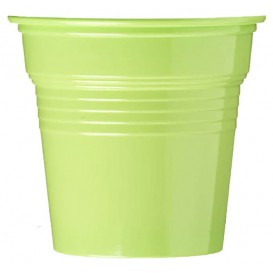 Copo de Plastico PS Verde Limão 80 ml Ø5,7cm (1500 Uds)