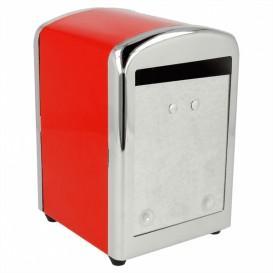 Dispensador Guardanapos Inox. Vermelho Miniservis (1 Ud)