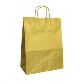 Saco Papel Kraft Ouro Asas 100g 24x12x31cm (50 Uds)