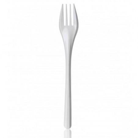 Garfo de Plástico PS Branco 165 mm (2.000 Uds)