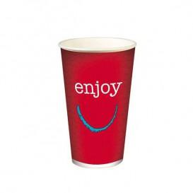 """Copo Cartão Bebidas Frias 16 Oz/500ml """"Enjoy"""" Ø9,0cm (50 Uds)"""