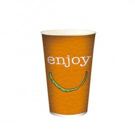 """Copo Cartão Bebidas Frias 22 Oz/680ml """"Enjoy"""" Ø9,0cm (1000 Uds)"""