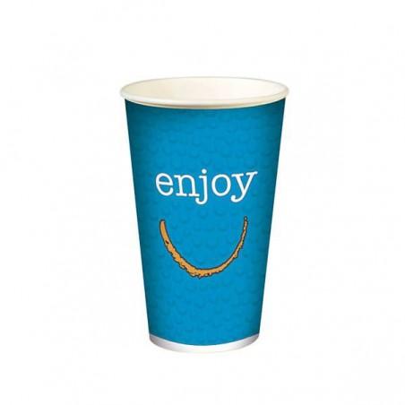 """Copo de cartão para bebidas frias 12 Oz/360ml """"Enjoy"""" (100 unidades)"""