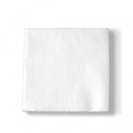 Guardanapos de Papel Branco 30x30 2 Capa (100 Uds)