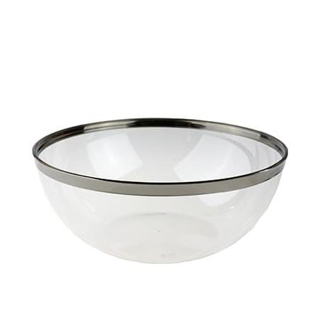Tigela Plastico Rigido Transparente 3500ml  (4 unidades)