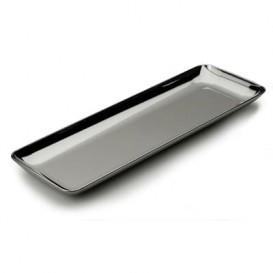 Bandeja Plastico Degustação Prata 6x19cm (200 Uds)