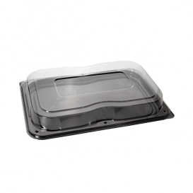 Bandeja Plastico Luxo Tapa Preto 46x30cm (25 Packs)