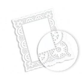 Naperon Papel Branco Rendado Rectang.20x30cm (2000 Uds)