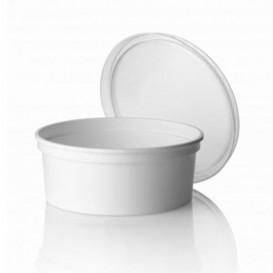 Embalagem Plastico Redondo Branco 350ml (50 Uds)