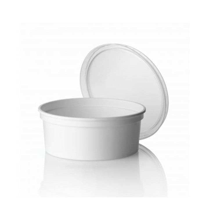 Embalagem Plastico Redondo Branco 350ml (500 Uds)
