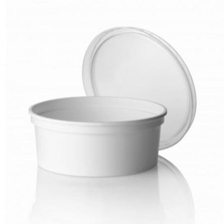 Taça Plastico Redonda Branca 350ml (500 Uds)