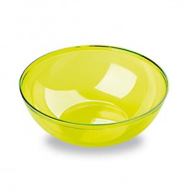 Tigela de Plastico Verde 400ml Ø 14 cm (60 Uds)