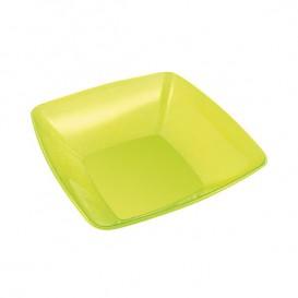 Tigela de Plastico Quadrada Verde 14x14cm (60 Uds)