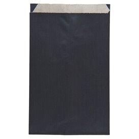 Saco de Papel Kraft Negro 12+5x18cm (125 Unidades)