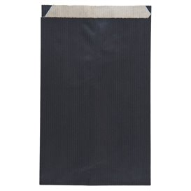 Saco de Papel Kraft Negro 12+5x18 cm (1500 Unidades)