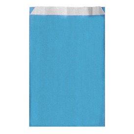 Saco de Papel Turquesa 12+5x18 cm (250 Unidades)