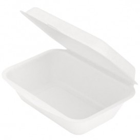 Embalagem Cana-de-açúcar Branco 136x182x64mm (50 Uds)