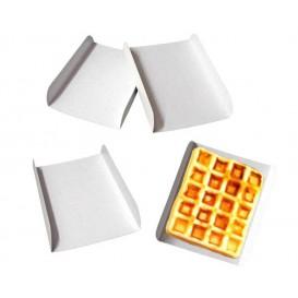 Bandeja Porta Waffle Branco 13,5x10x1,8 cm (25 Uds)