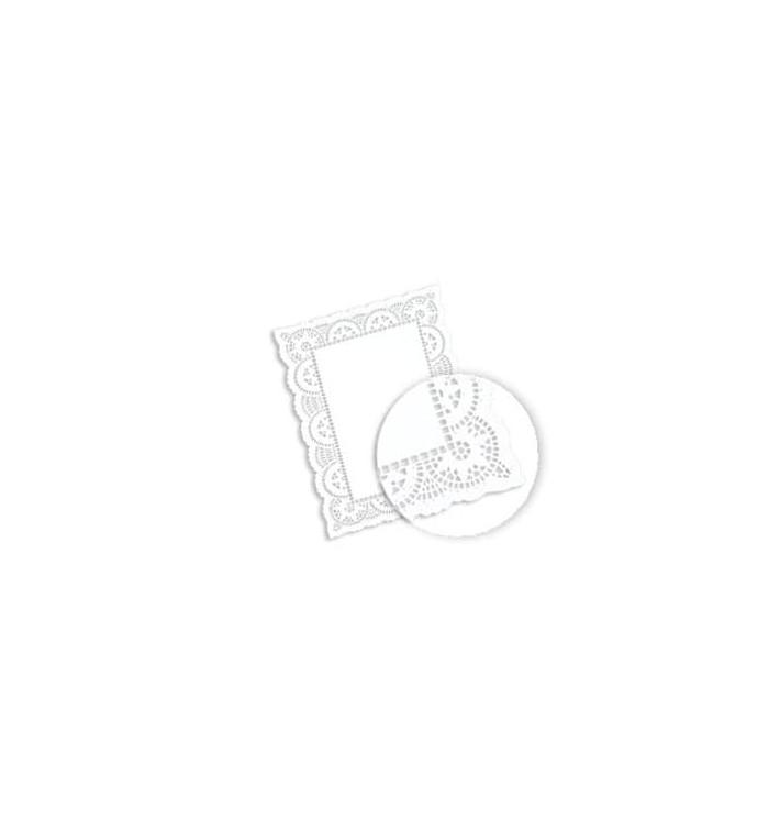 Naperon Papel Branco Rendado Rectang.30,5x40cm (250 Uds)