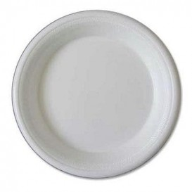 Prato Isopor Branco 225 mm (100 Unidades)