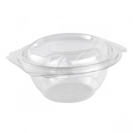 Tigela Saladeira Tampa Bisagra Pet 750 ml (60 Uds)