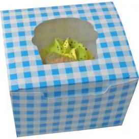 Caixa 1 Cupcake Azul 11x10x7,5cm (200 Unidades)