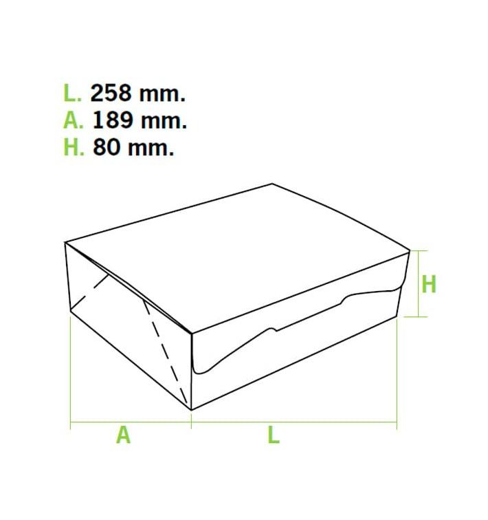 Caixa Pastelaria Rosa 25,8x18,9x8cm 2kg (20 Uds)