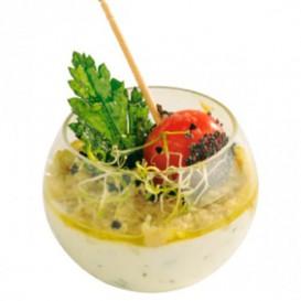 Tigela Degustação Esfero Pequena Trans. 60 ml (5 Uds)