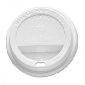 Tampa Perfurada Copo Branco 10 Oz/300 ml Ø8,4cm (100 Uds)