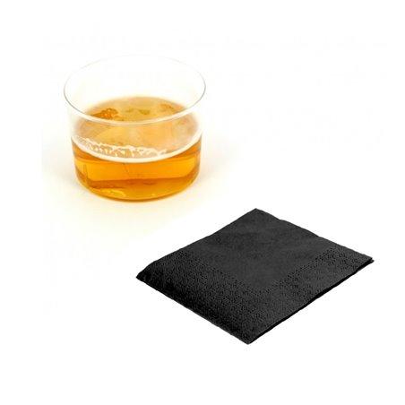 Guardanapos Papel Cocktail Preto 20x20cm (100 Uds)