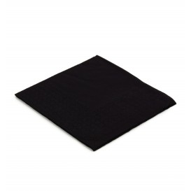 Guardanapos Papel Cocktail Preto 20x20cm (6000 Uds)