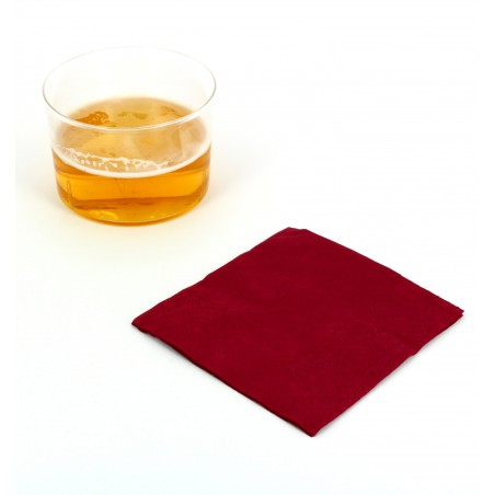 Guardanapos Papel Cocktail Bordeaux 20x20cm (100 Uds)