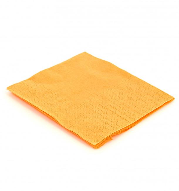 Guardanapos Papel Cocktail Amarelo 20x20cm (100 Uds)