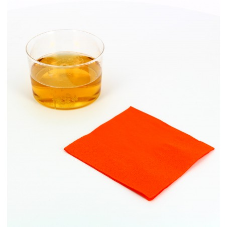 Guardanapos Papel Cocktail Laranja 20x20cm (100 Uds)