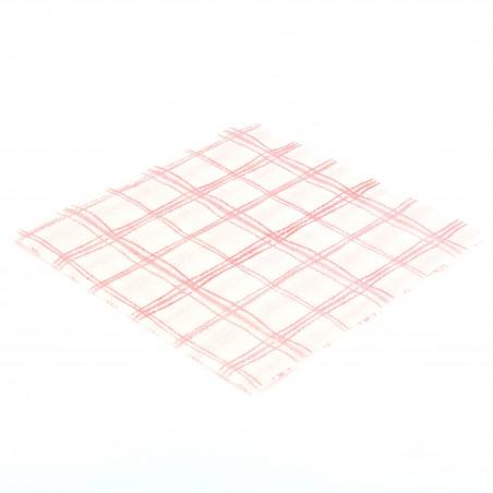 Guardanapos Quadrados Vermelhos 33x33 1 Folha (80 Uds)