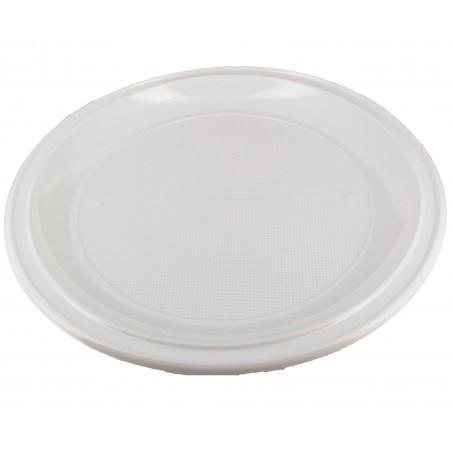 Prato Plástico Pizza PS Branco 280 mm (100 Unidades)