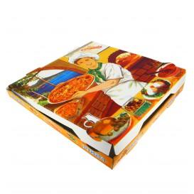 Caixa Cartão Pizza 33x33x3,5 cm Vegetal (100 Uds)