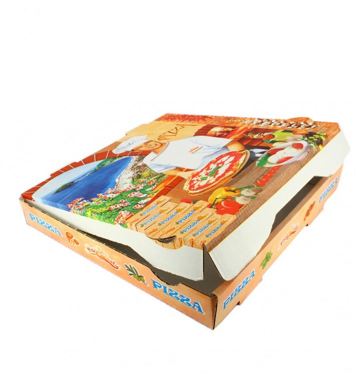 Caixa Cartão Pizza 40x40x4 cm Vegetal (100 Uds)