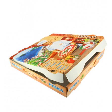 Caixa Cartão Pizza 36x36x4 cm Vegetal (100 Uds)